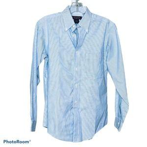 Ralph Lauren Boy's Blue Pinstripe Collared Shirt L